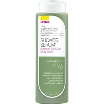 Lifelab Daily Defense Green Tea Age Counteractive Body Wash Shower Serum, 14.7 Fluid Ounce