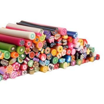 100pcs 3D Designs Cute Nail Art Manicure Fimo Canes Sticks Rods Stickers Decoration