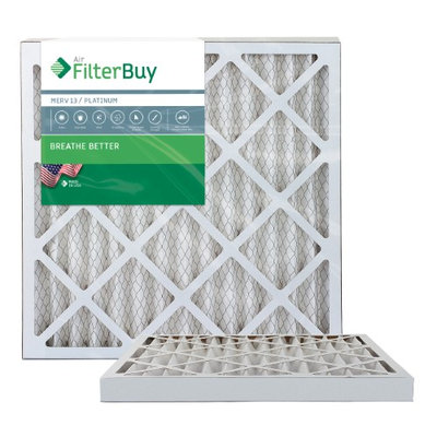 AFB Platinum MERV 13 24x24x2 Pleated AC Furnace Air Filter. Filters. 100% produced in the USA. (Pack of 2)