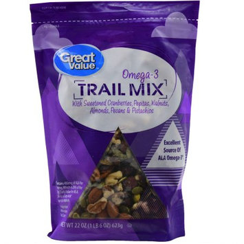 Wal-mart Stores, Inc. Great Value Trail Mix With Omega-3, 22 oz