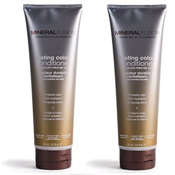 Mineral Fusion Lasting Color Conditioner (Pack of 2) with Aloe Barbadensis Leaf Juice, Vitamin B5, Sunflower Seed Oil and Argan Kernal Oil, 8.5 oz.