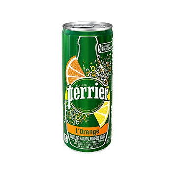 Perrier Sparkling Natural Mineral Water, Lemon Orange, 8.45 Ounce 30 Count (Pack of 2)