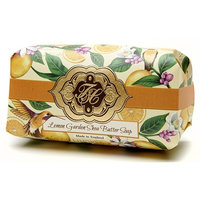 Lemon Citrus, Luxury Large Oversized, Beautifully Scented, Shea Butter Soap Bar, Made in England, Triple Milled. Environmentally Friendly (Green). 8.0oz.SAVE by ordering