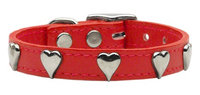 Mirage Pet Products 8315 12RD Heart Leather Red 12