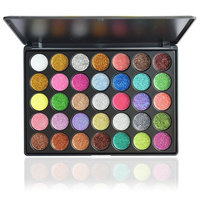 Glitter Eyeshadow Palette,Vodisa 35 color Pressed Glitter Makeup Powder Palette Long-Lasting Metallic Shimmer Eye shadow Pallet Eye Makeup Glow Highly Pigmented Mineral Pressed Glitter Cosmetic Set