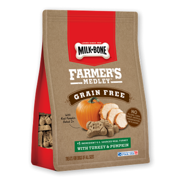 Milk Bone Milk-Bone Farmers Medley, Grain Free with Turkey & Pumpkin 12 oz.