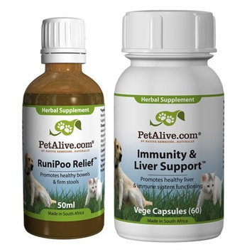 PetAlive RuniPoo Relief and Immunity & Liver Support ComboPack