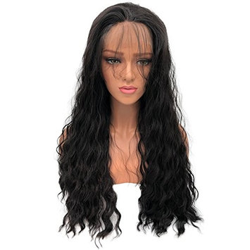 Alice black Wig Long Fluffy Curly Wavy Hair Wigs for Girl Heat Friendly Synthetic Cosplay Party Wigs Natural As Baby Hair for women 22 inches