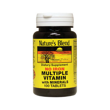 Natures Blend Multiple Vitamin with Minerals No Iron 100 Tablets by Nature's Blend