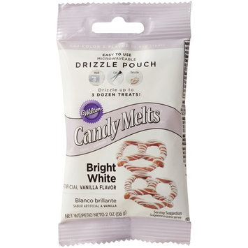 Wilton Candy Melt Drizzle Pouch, Bright White, 2oz
