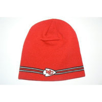 Reebok NFL Kansas City Chiefs Pin Striped Beanie Hat Ski Skull Cap Lid Toque
