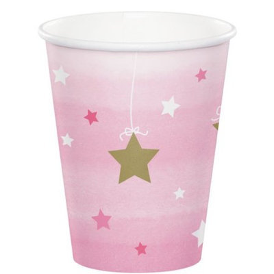 Hoffmaster Group 322254 12 by 8 Count Twinkle One Little Star Girl 9 oz Cups - Case of 12
