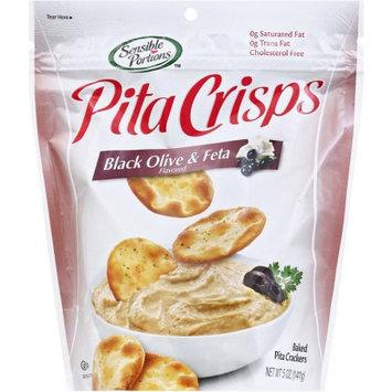 Sensible Portions Pita Bites Naturally Baked Pita Crackers Black Olive Feta 5 oz