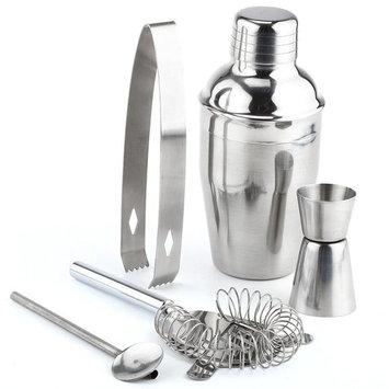 TekDeals 5 PCs Stainless Steel Cocktail Shaker Mixer Drink Bartender Martini Tools Bar Set Kit 550 ml