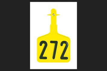 Y-Tex 2 piece Large Plastic Number Tag (0512001)