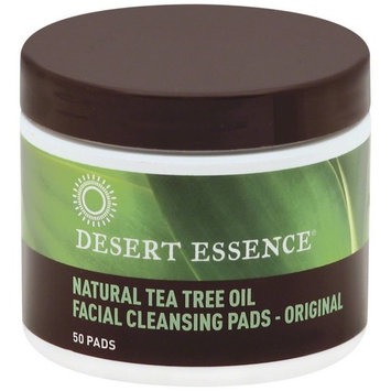 Desert Essence Facial Cleansing Pads, Natural Tea Tree Oil 50 ea