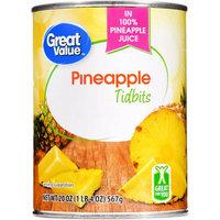 Great Value Pineapple Tidbits, 20 oz
