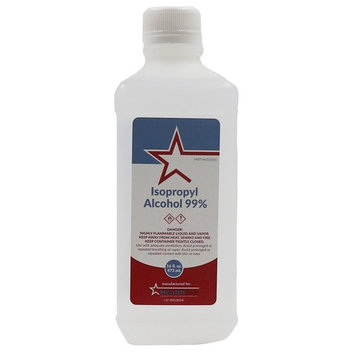 Healthstar 99% 16 Oz Isopropyl Rubbing Alcohol – Cleans, Disinfects, Relieves Muscle Pain - Made in USA