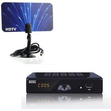 Boostwaves Digital Television Converter Box HD Flat Antenna Scheduled Recording DVR 1080P HDTV HDMI