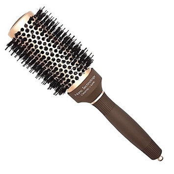 Psyche Natural Boar Bristle Round Hair Brush (43#) -with Boar Bristle, Blowout Brush for Blow Drying, Curling &Straightening, Perfect Volume & Shine