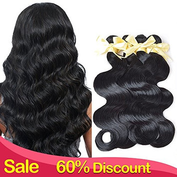 Lin Hair 18 20 22inch Peruvian Virgin Human Hair Weave 3 Bundles Deal Peruvian Body Wave Weft Extensions Natural Color []