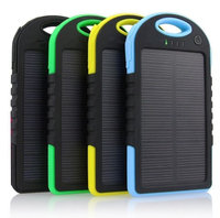 Tagital 12000mAh Portable Shockproof Waterproof Solar Charger Power Bank Battery Panal Double USB for iPhone Samsung Android