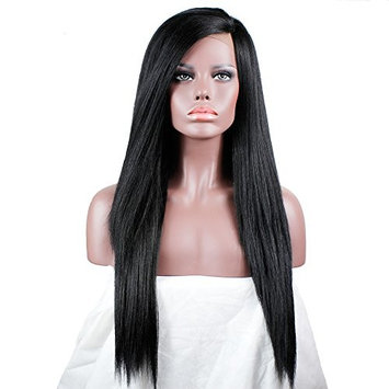 Long Yaki Straight Lace Front Wigs For Women L Part Wig Synthetic Lace Front Wigs African American Wigs 20 Inches Candice
