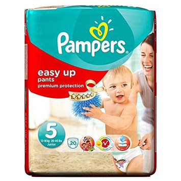 Pampers Easy Up Pants Size 5 Junior 12-18Kg (20)