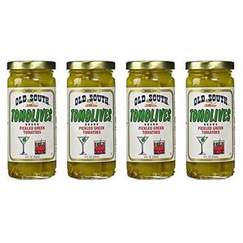 South Tomolives Pickled Green Tomatoes 8 Oz Jar (4 Pack)