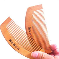Huphoon Handmade Natural Wide Tooth Anti-Static Massage Head Comb Made of Excellent Peach Wood