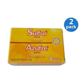 SULFUR Soap W/ Lanolin For ACNE Treatment Grisi Jabon Para Acne by Sulfur 8