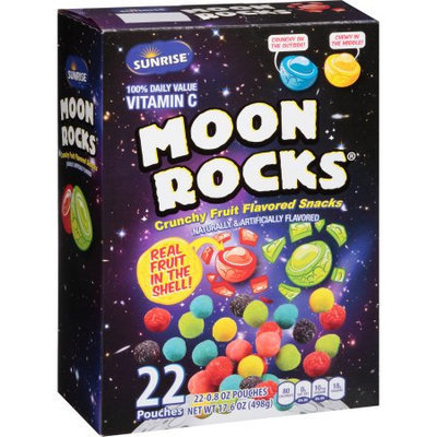 Mclane Company Sunrise Moon Rocks Crunchy Fruit Flavored Snacks, .8 oz, 22 count