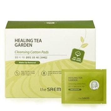 [the SAEM] Healing Tea Garden Cleansing Cotton Pads 30ea : Beauty
