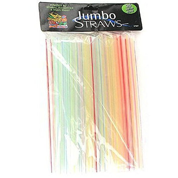 Bulk Buys HT857-25 8 Long Jumbo Straws - Pack of 25
