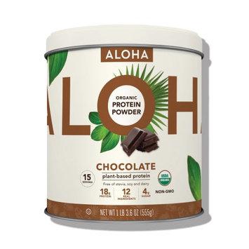 Aloha Protein Powder Tin, Chocolate, 1.12 Lb