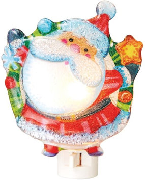 Jolly Ole Saint Nick Santa with Star Holiday Night Light Midwest CBK