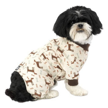 PetRageous Cuddle Up Pajamas for Pets, Large