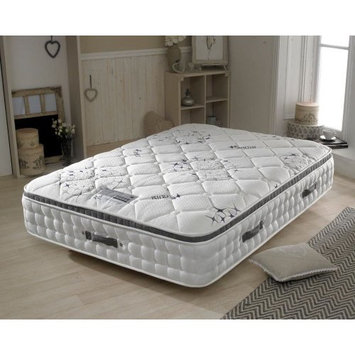Pillow-Top 2500 Pocket Sprung, Happy Beds Ametist Medium Tension Mattress with Air Stream Fibre Fillings - 4ft Small Double (120 x 190 cm)