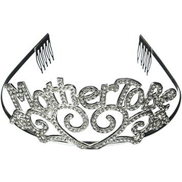 Metal Mother To Be Tiara Baby Shower Mom Gift Crown (2-Pack)