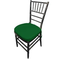 LA Linen PopChiavaryPadCover-Pk4-GreenEmP32 Polyester Poplin Chiavary Chair Cushion Cover Green Emerald - Pack of 4