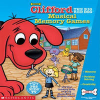 Scholastics Teacher Scholastic LKCLIMUSIJ Clifford The Big Red Dog Musical Memory Games