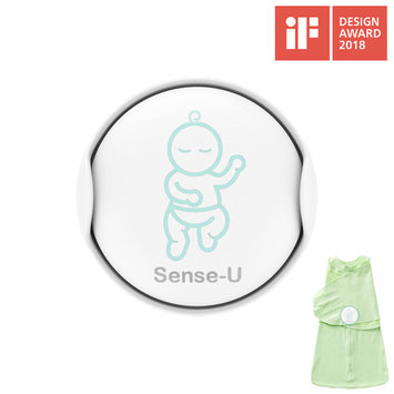 Sense-U Baby Breathing & Rollover Movement Monitor with a FREE Sleepbag(Large: 3-6m): Alerts you for No Breathing, Stomach Sleeping, Overheating and Getting Cold with Audible Alarm