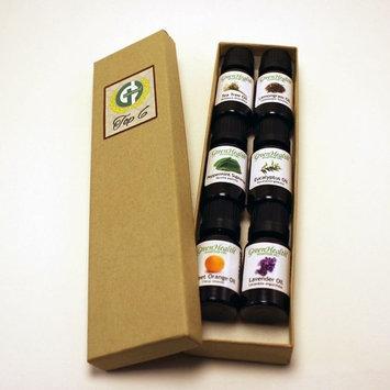 Top 6 100% Pure Therapeutic Grade Essential Oil Gift Set - 6/10ml (Lavender, Tea Tree, Eucalyptus, Lemongrass, Sweet Orange, Peppermint) Great for Aromatherapy.
