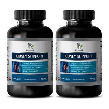Detox - Kidney Support Complex - Kidney Nutrition Detox Capsules - 2 Bottles 120 Capsules