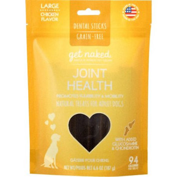 Brand New N-Bone Get Naked Treats for Dogs - Joint Health for Adult Dogs Large BULK - 36 Treats - (6 x 6 Sticks)