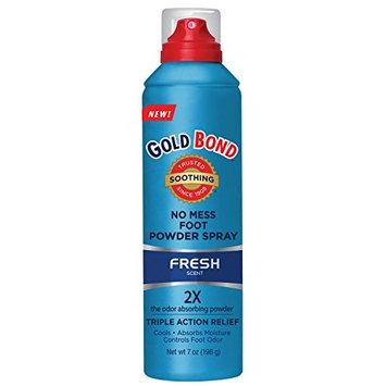 5 Pack - Gold Bond No Mess Foot Powder Spray, Fresh - 7 oz Each