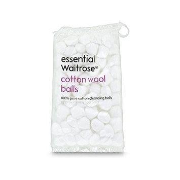 Pure Cotton Wool Balls 85g essential Waitrose 100 per pack