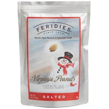 6oz Silver Bag Salted Peanuts Snowman