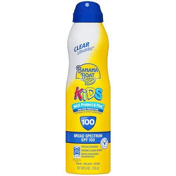 Banana Boat Kids Max Protect & Play Continuous Spray Sunscreen, SPF 100 6.0 fl oz(pack of 6)