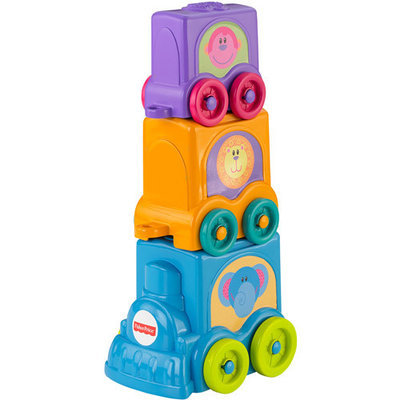 FISHER PRICE Fisher-Price Growing Baby Stack & Roll Choo-Choo